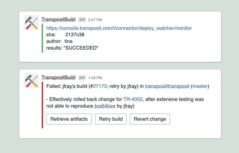 CircleCI improved Slack integration