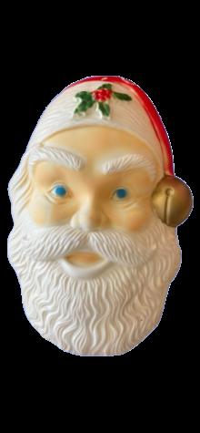 Santa Face Outdoor Light Cover photo