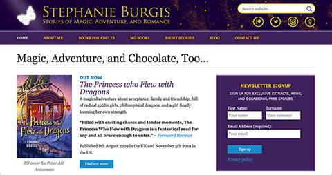 Screenshot of stephanieburgis.com