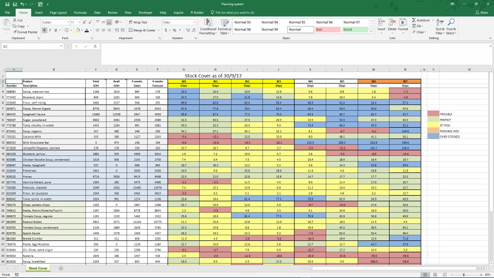 Before: Excel screenshot