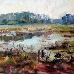The Ibis Pond 11x14