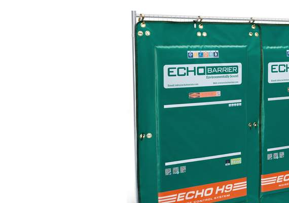 Echo H9 Acoustic Barrier On Fence