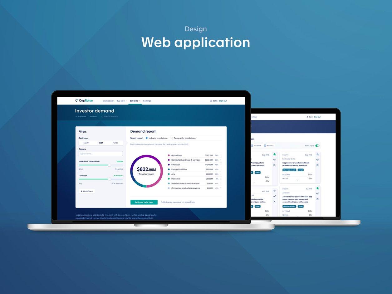 Prototyping - UX Design   CapRaise