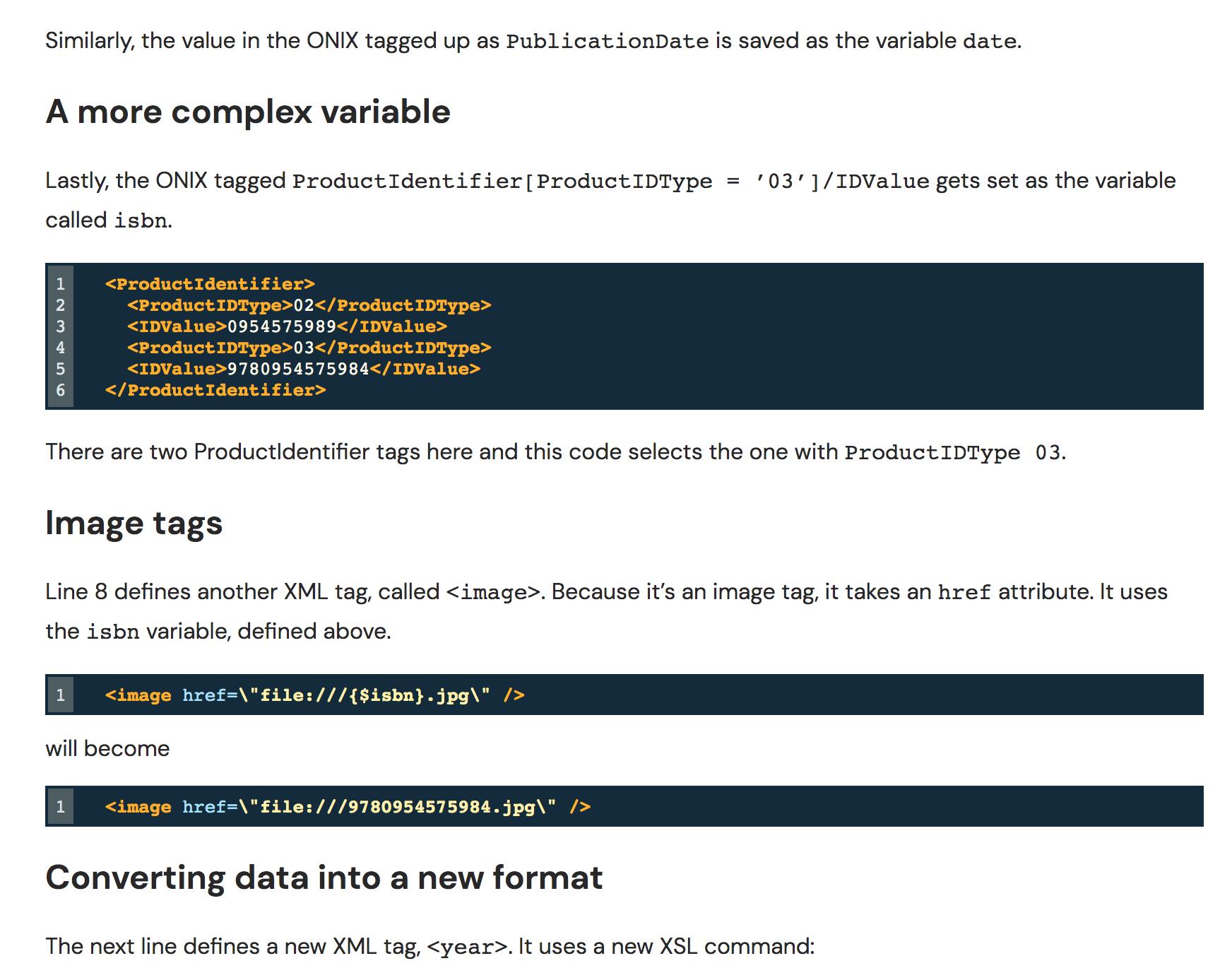 Catalogues in InDesign via ONIX screenshot