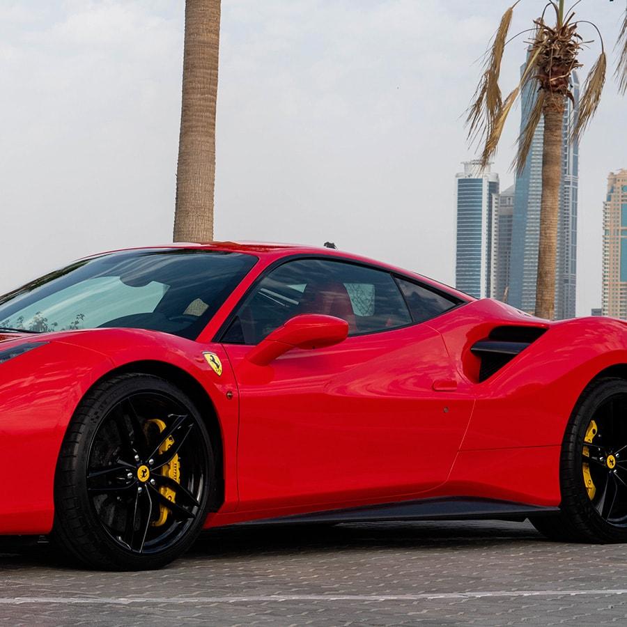 Ferrari 488 mobile side