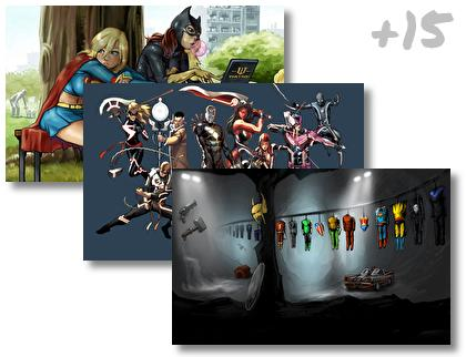 Collage Comics theme pack