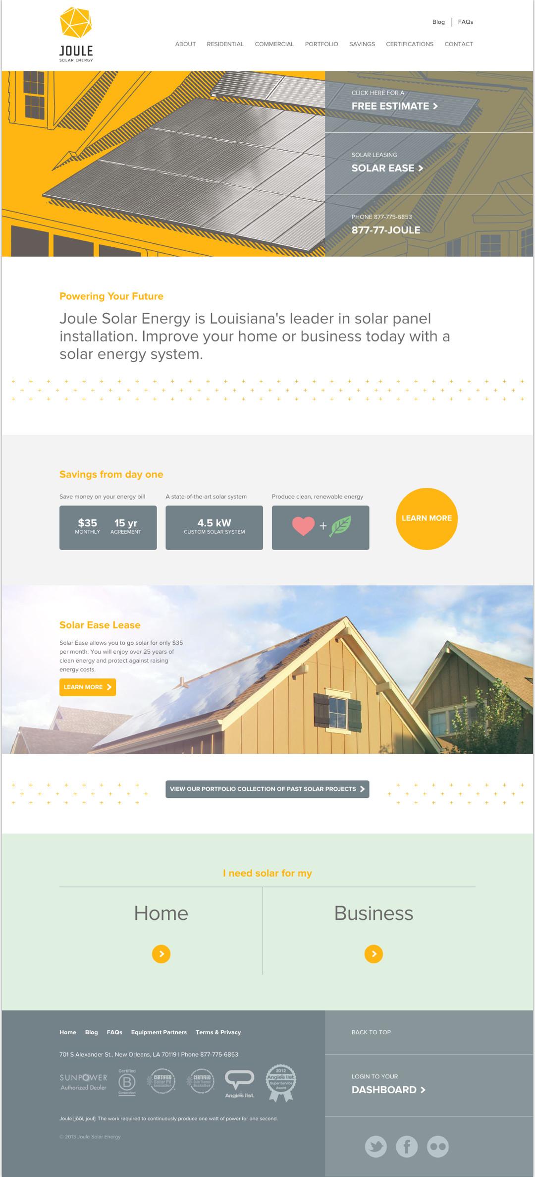 Homepage on Desktop