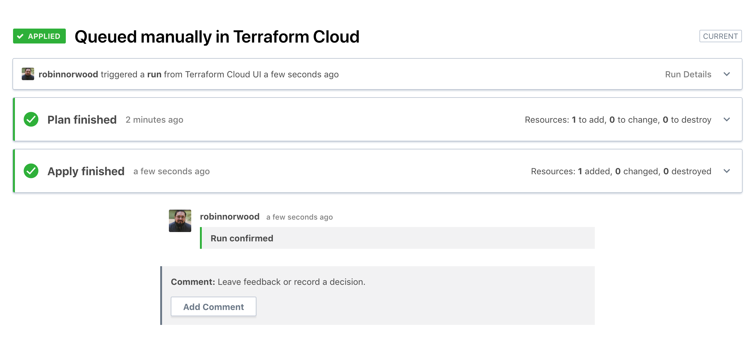 Terraform Apply