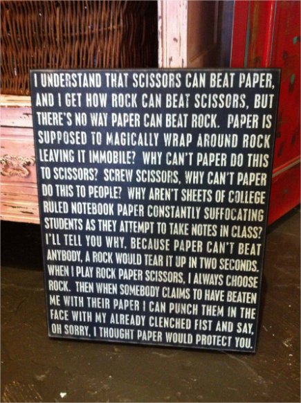 Scissors Paper Rock