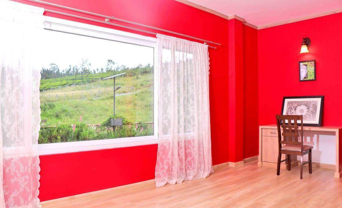 Study corner in the bedroom at Streamside Marigold