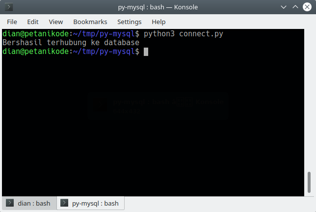 Menghubungkan Python dengan MySQL