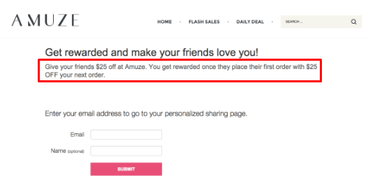 Referral email example