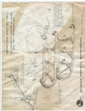 Poloron Products Santa in Sled and Two Reindeer Set #C-87-1 Instruction Manual preview