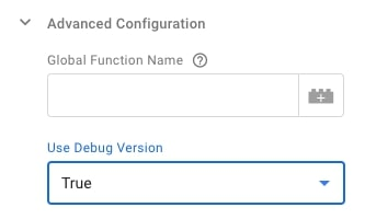 Settings in Google Analytics with activated debugging