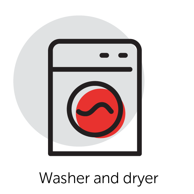 Graphical Icon of a Washer Dryer