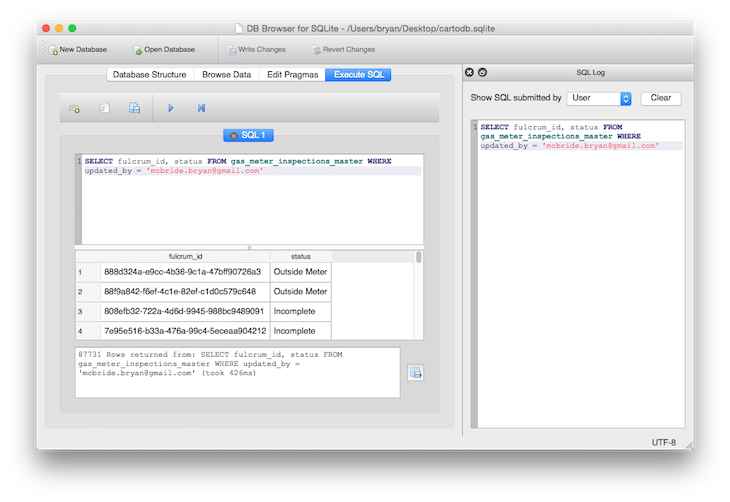SQLite Browser