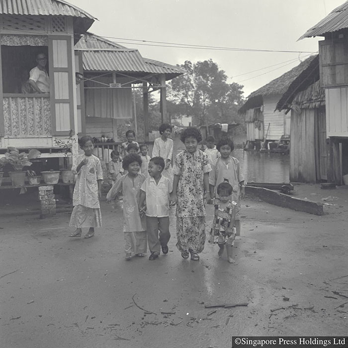 Malays celebrating Hari Raya Puasa, 1963