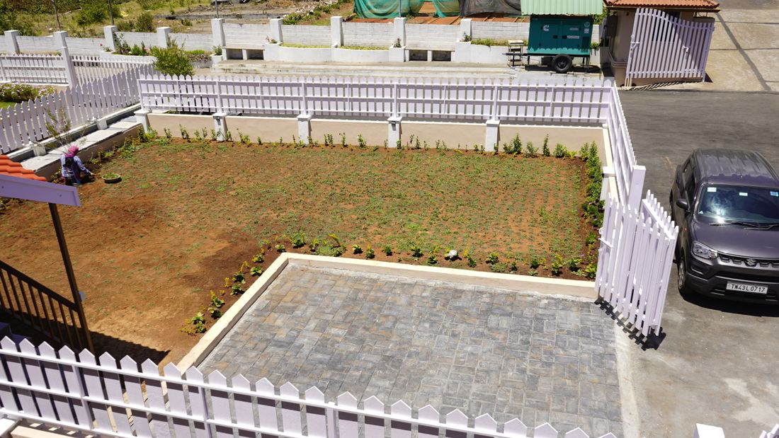 View of the garden from the upper units