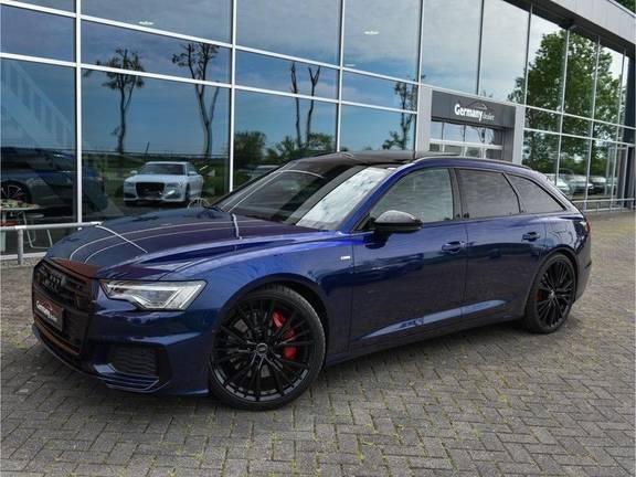 Audi A6 Avant 55TFSI 367pk S-Line Quattro Black Optic Navarra Pano Led Zetels Audi-Sound M-Led Priveglas