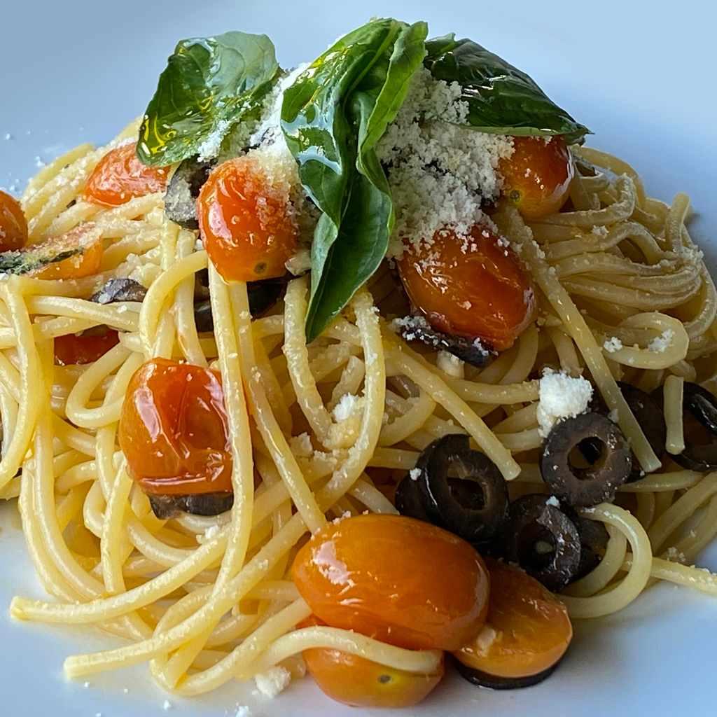 pasta: spaghetti primavera