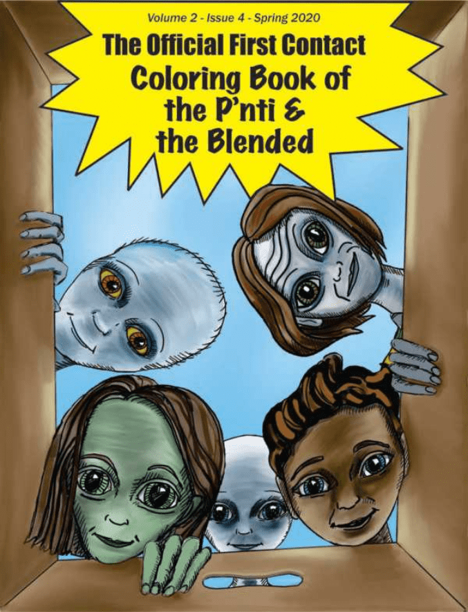 The Official First Contact Coloring Book of the P'nti & The Blended