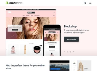 Screenshot of Shopify themes webpage