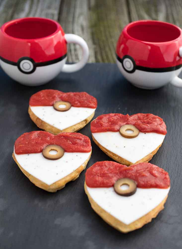 Vegan Pizza Pokeball Waffles
