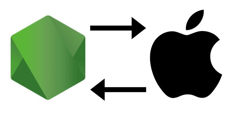 Node logo with Apple's logo