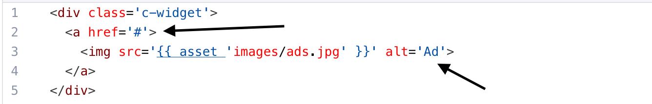 Advertise Widget Code