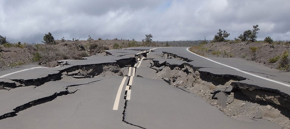Road Rendered Impassable By Earthquake Damage