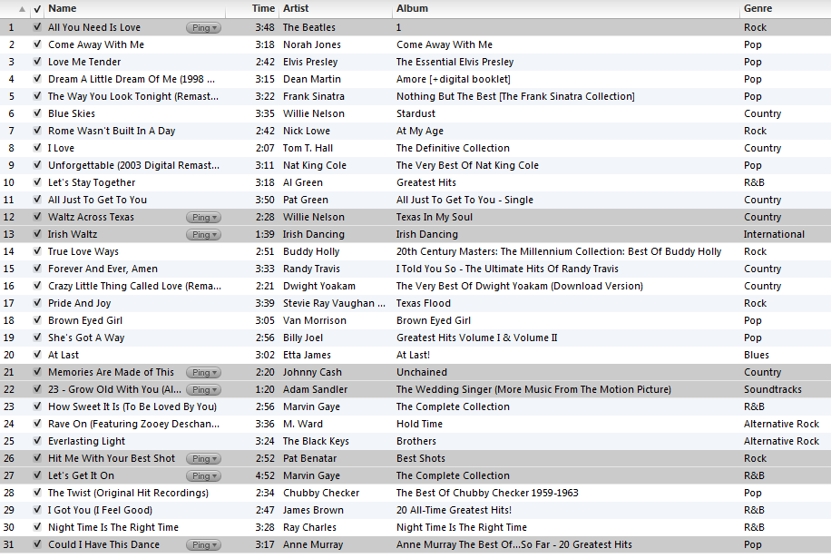Collings Wedding Playlist 2012 06 30 Buster Collings