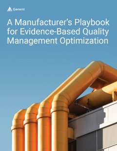 A Manufacturer's Playbook for Evidence-Based Quality Management Optimization Cover