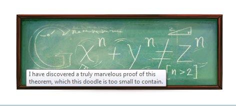Google Doode Fermat
