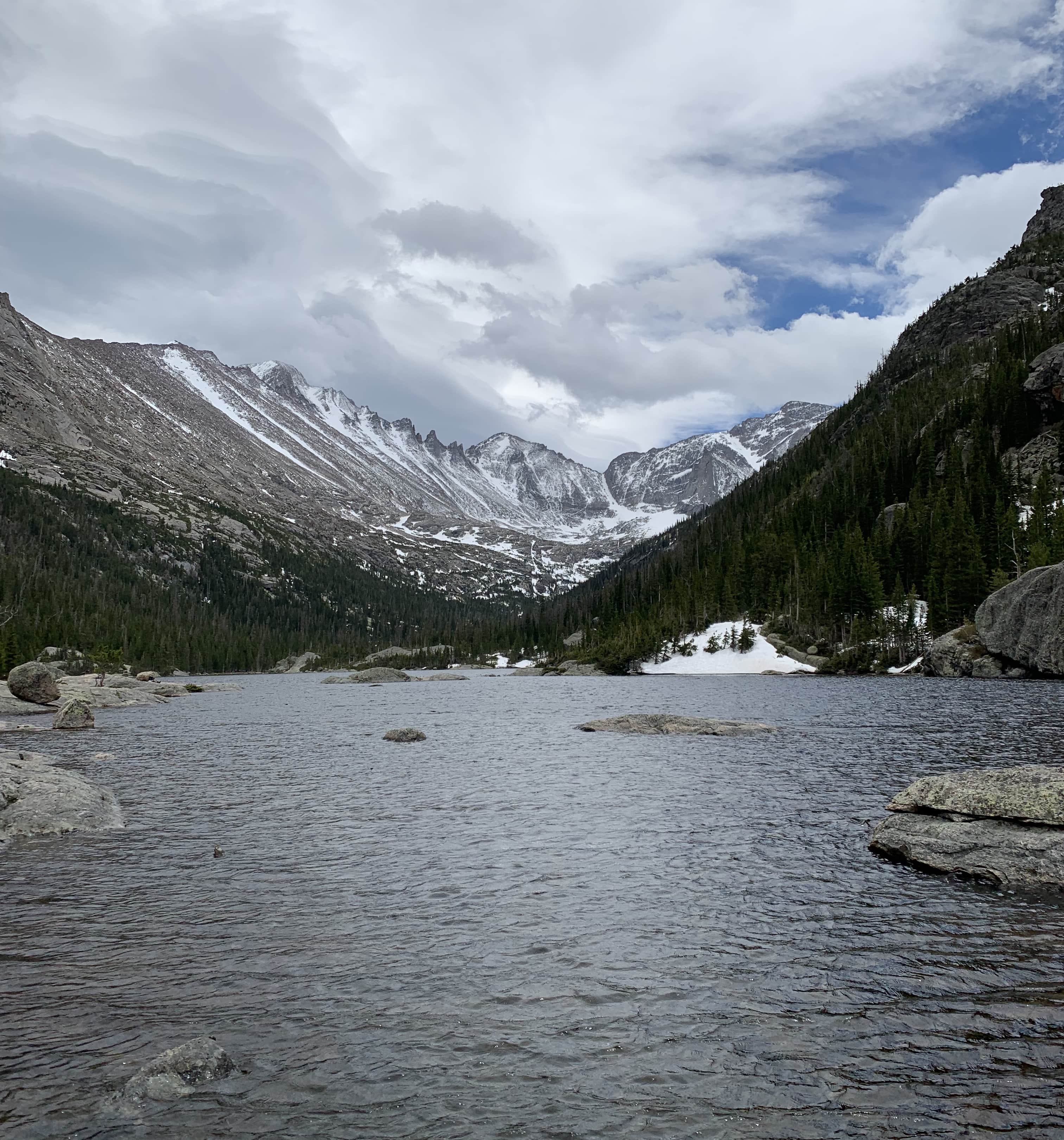 Loch Vale in Rocky Mountain National Park