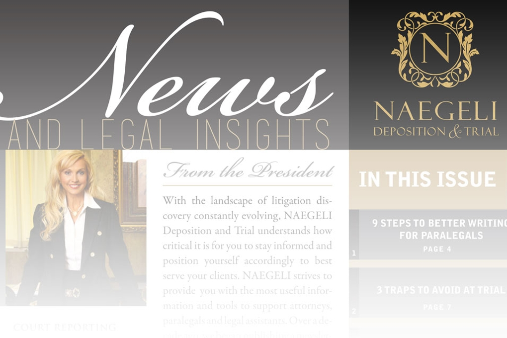 NAEGELI-ANNOUNCES-PUBLICATION-OF-QUARTERLY-NEWSLETTER