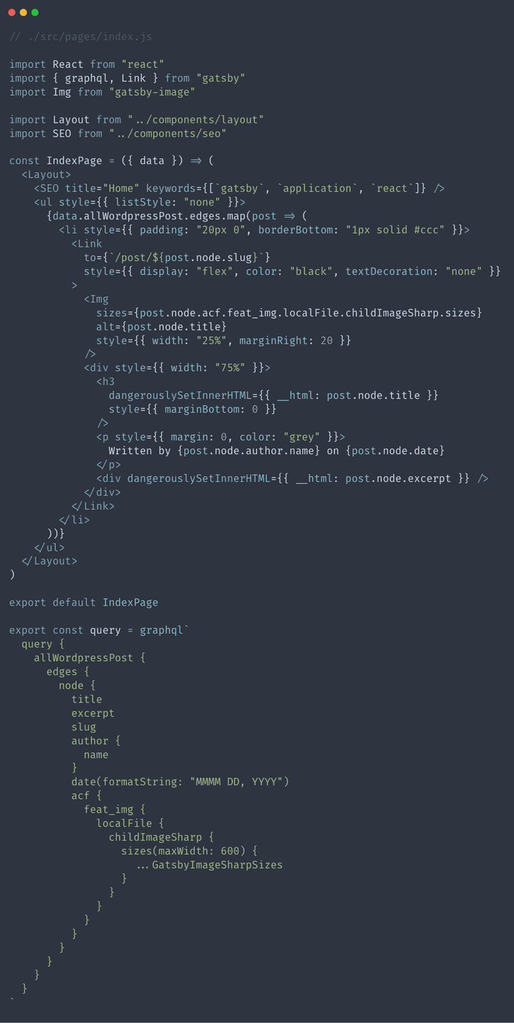 Our finished index.js file