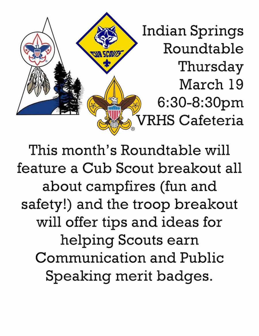 March Roundtable Flier