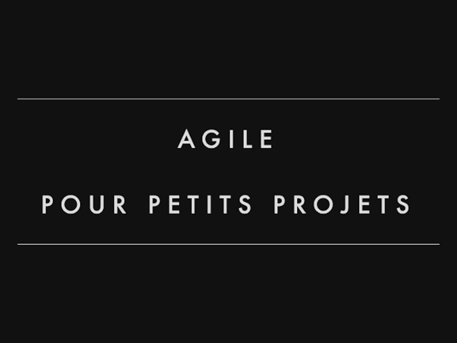 Agile pour petits projets