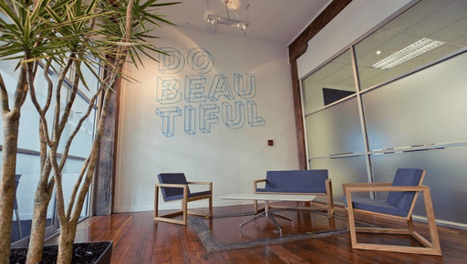 A space in the Xero offices Auckland where people can meet and collaborate, near where the Futrli team have moved in.