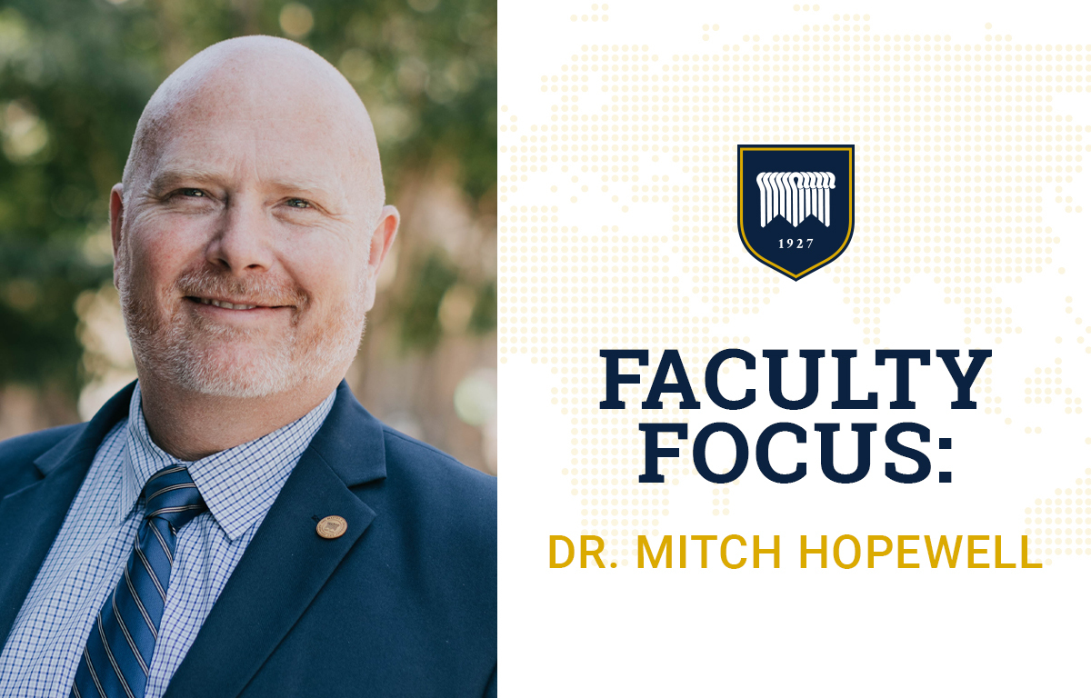 Faculty Focus: Dr. Mitch Hopewell image