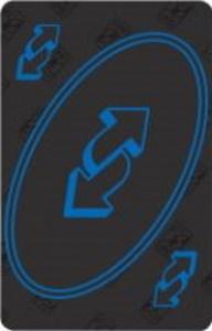 50th Anniversary Edition (Premium Set) Black Uno Reverse Card