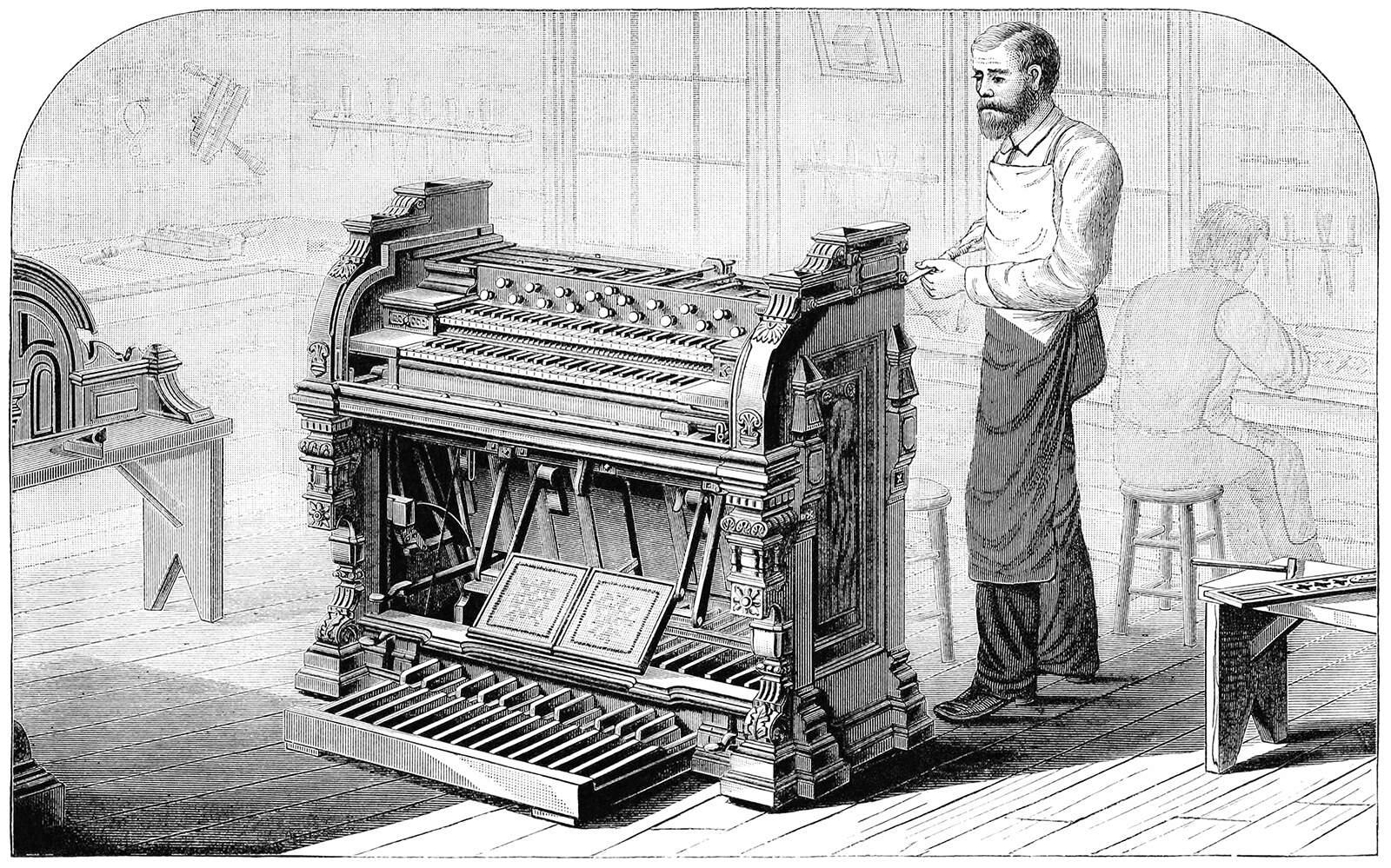 A handmade organ