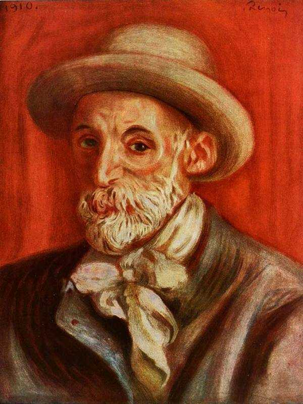 A self-portrait painted by Renoir when he was an old man.