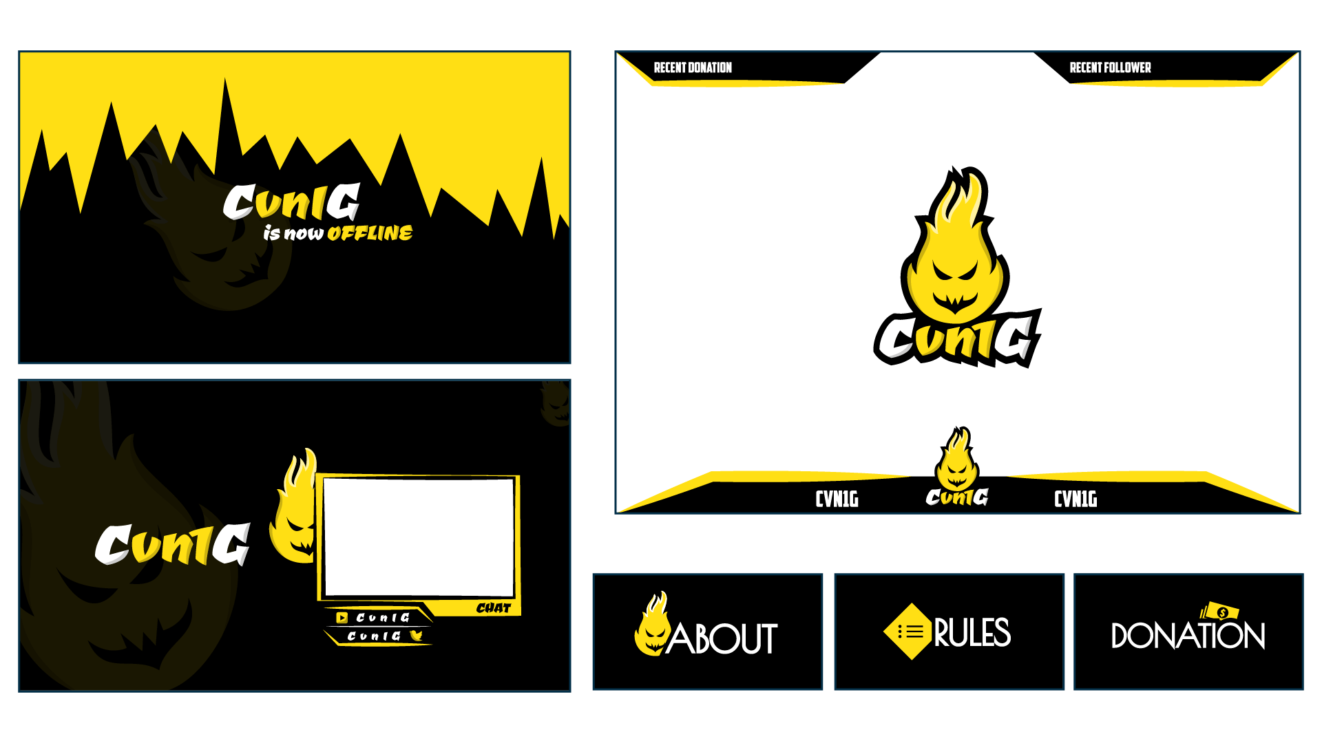 Cvn1G Twitch Channel Design