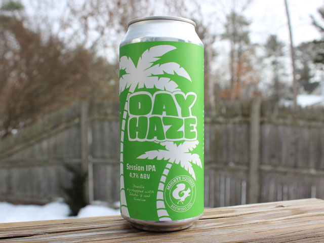 Day Haze, a Session IPA brewed by Mighty Squirrel Brewing Company