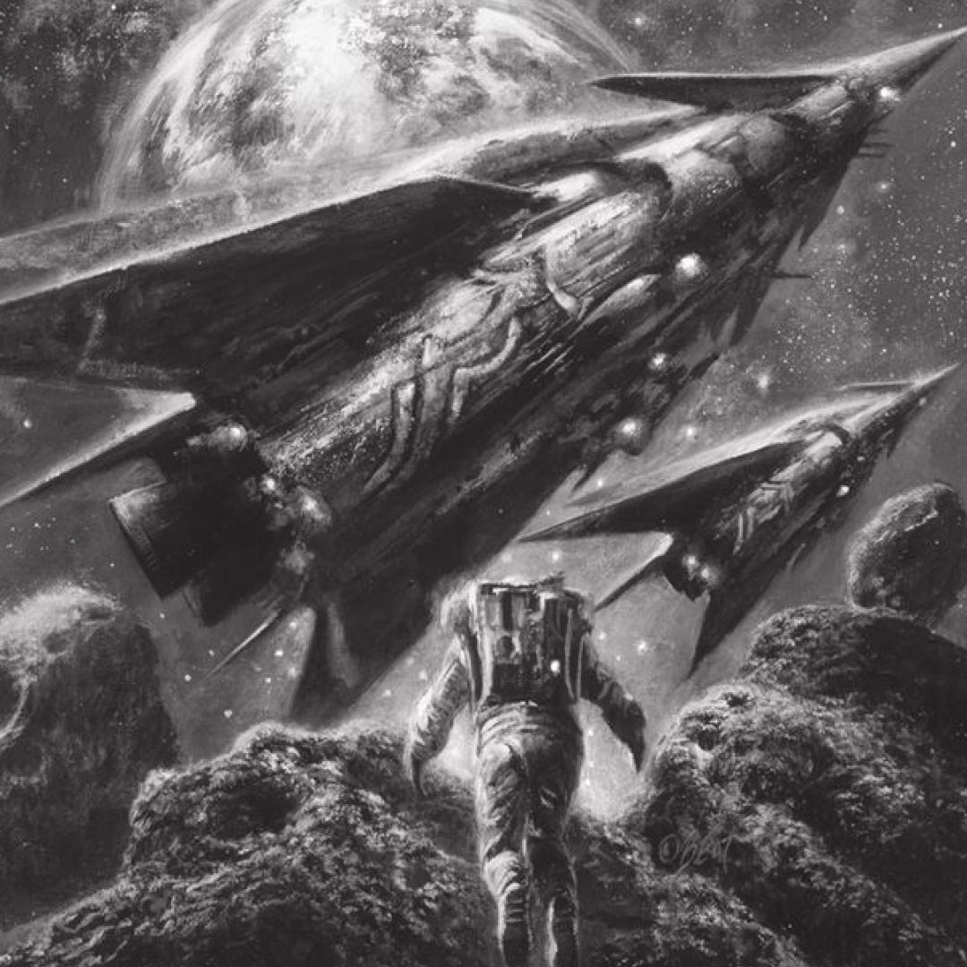 Иллюстрация собложки книги «Звездные мошенники». Оформление: Сергей Шикин