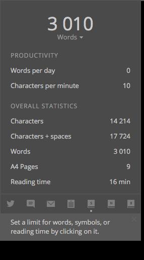 Write! Document Statistics