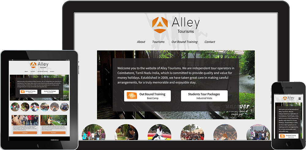 Gowtham (Gauti) Selvaraj's Portfolio - Alley Tourisms - front-end and Ruby Developer