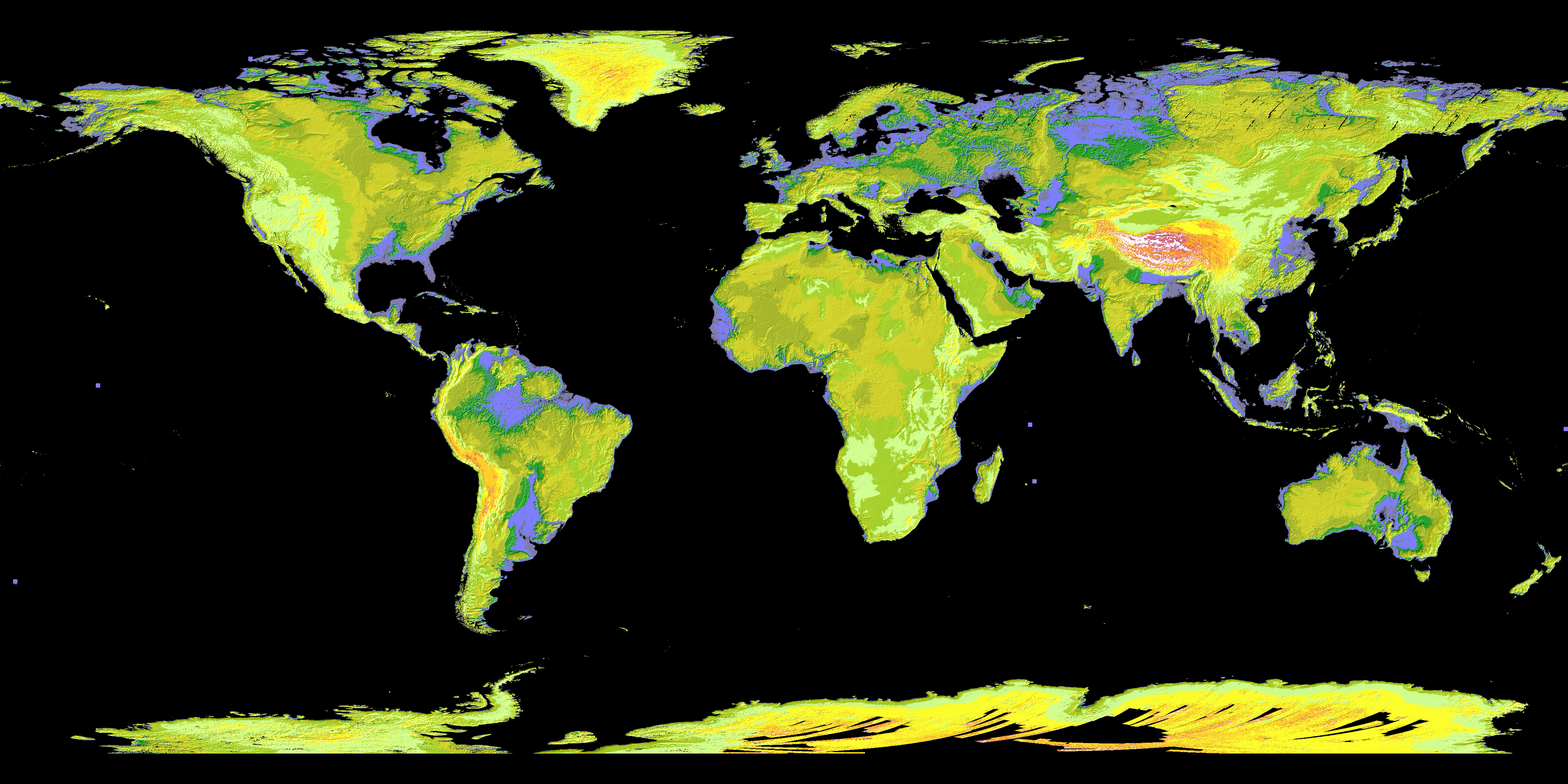ASTER image of world