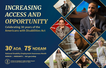 National Disability Employment Awareness Month 2020 poster